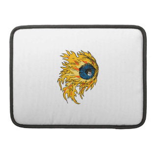 Flaming Eyeball On Fire Drawing Sleeve For MacBooks