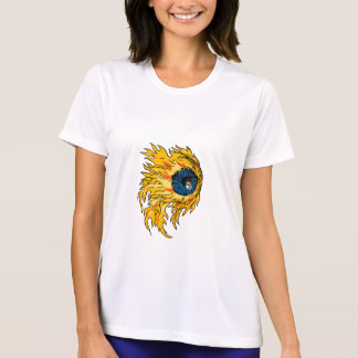 Flaming Eyeball On Fire Drawing T-Shirt