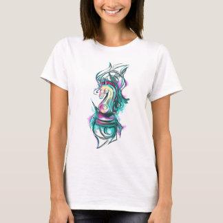 Flaming Fantasy Knight Chess Piece T-Shirt