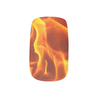Flaming Fingernails Minx Nail Art