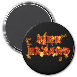 Flaming Fire Hazard Magnet
