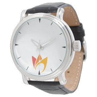 Flaming Fire (orange to red flames) Wrist Watches