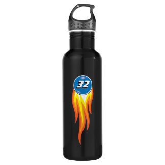 Flaming Fireball Hot Suff Your Favorite Number 710 Ml Water Bottle