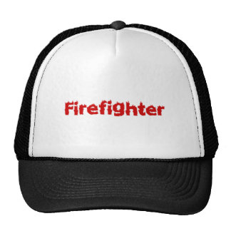Flaming Firefighter Design in Red Trucker Hat