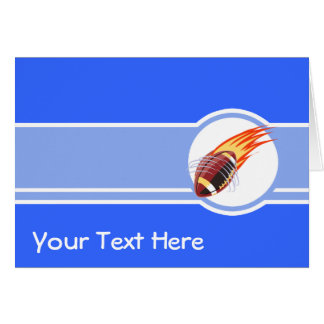 Flaming Football; Blue Card