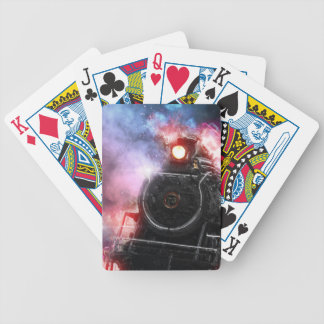 Flaming Freight Train Bicycle Playing Cards