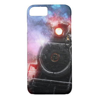 Flaming Freight Train iPhone 8/7 Case
