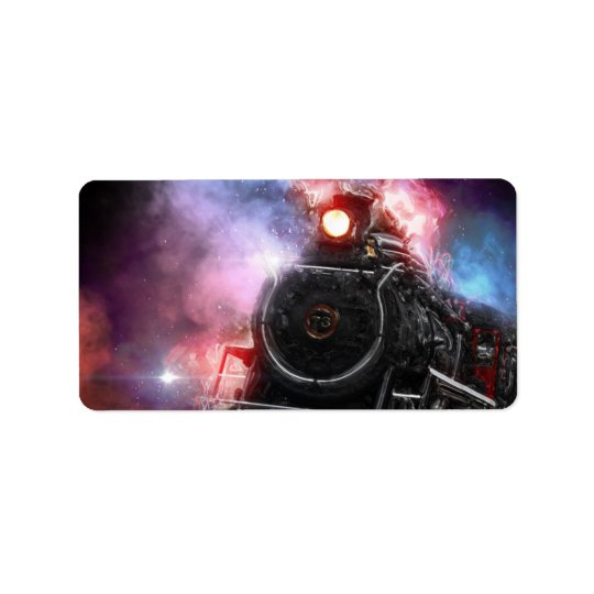 Flaming Freight Train Label