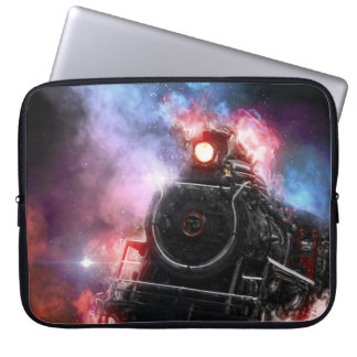 Flaming Freight Train Laptop Sleeve