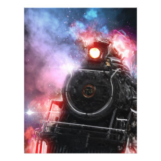 Flaming Freight Train Personalized Flyer