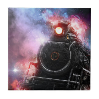 Flaming Freight Train Tile