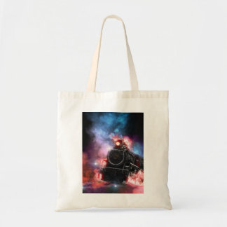 Flaming Freight Train Tote Bag