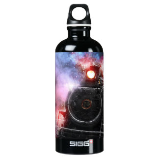 Flaming Freight Train Water Bottle