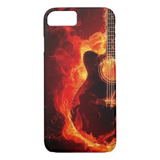 Flaming guitar iPhone 7 case