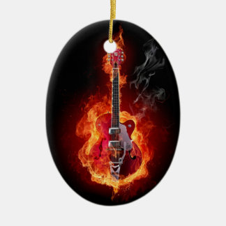 Flaming Guitar Ornament