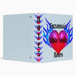 Flaming Heart Bible Study Notes Binder