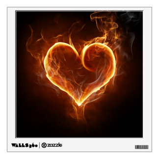 Flaming Heart Wall Decal