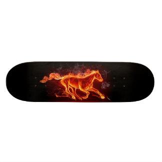 FLAMING HORSE CUSTOM SKATEBOARD
