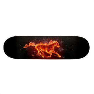 FLAMING HORSE SKATEBOARD