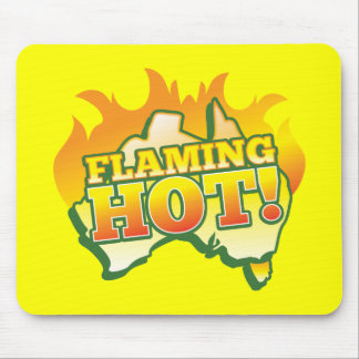 Flaming Hot AUSTRALIA! From The Aussie Shop Mouse Pad