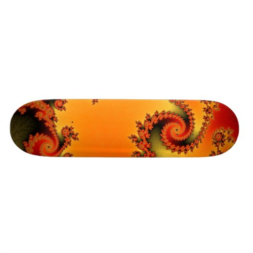 Flaming Hot Double Spiral Skateboard