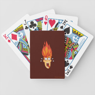 Flaming Hot Head Bicycle Playing Cards