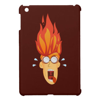 Flaming Hot Head Cover For The iPad Mini
