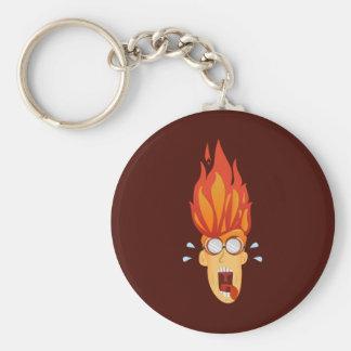 Flaming Hot Head Keychain