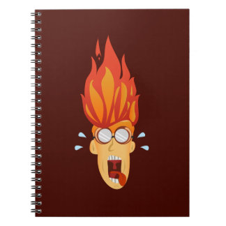 Flaming Hot Head Notebooks