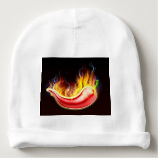 Flaming Hot Red Chilli Pepper Baby Beanie