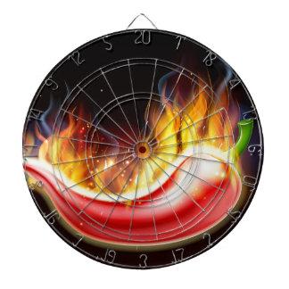 Flaming Hot Red Chilli Pepper Dartboard