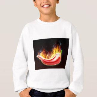 Flaming Hot Red Chilli Pepper Sweatshirt