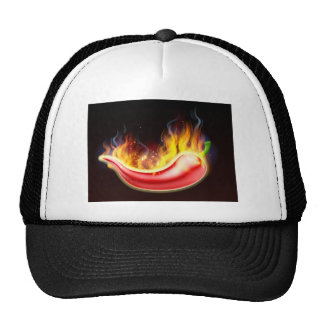 Flaming Hot Red Chilli Pepper Trucker Hat