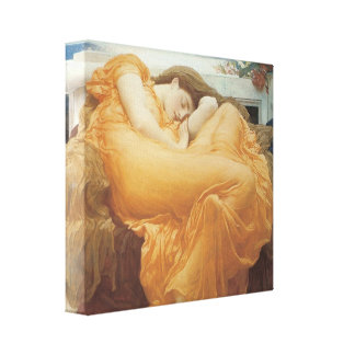 Flaming June, 1895 Gallery Wrapped Canvas