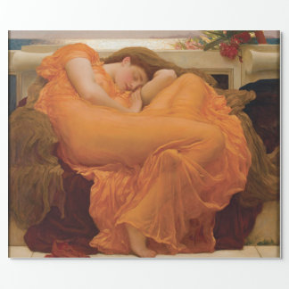 Flaming June by Frederic Leighton Wrapping Paper