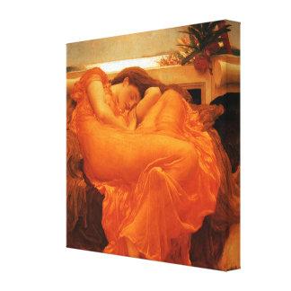 Flaming June Frederic Leighton Fine Art Canvas Print