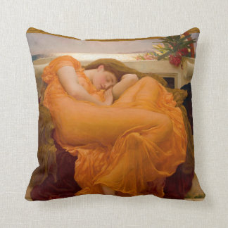 Flaming June - Frederic Lord Leighton Throw Pillow