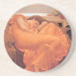 Flaming June Sandstone Drink Coaster