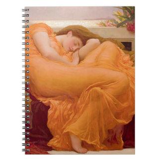 Flaming June Vintage Notebook