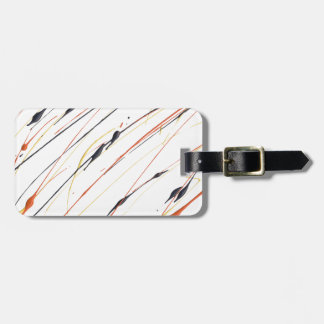 Flaming Leather Paint Splatter Luggage Tag