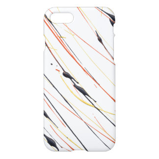 Flaming Leather Paint Splatter Phone Case