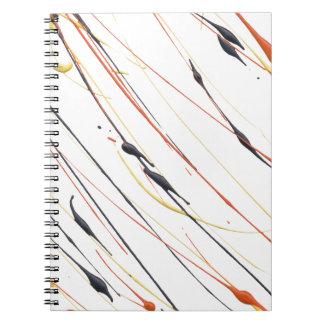 Flaming Leather Paint Splatter Spiral Notebook