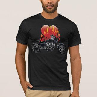 Flaming Love Biker Shirt
