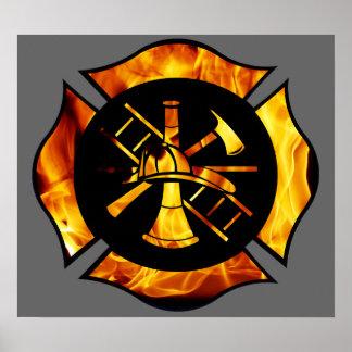 Flaming Maltese Cross 2 Poster