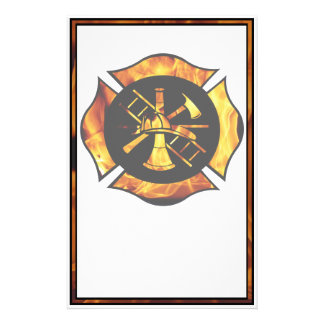 Flaming Maltese Cross Stationary Stationery