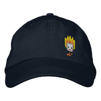 Flaming Mattson Marshmallow Hat: Left Front Style Embroidered Hat