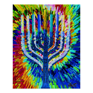 FLAMING MENORAH POSTER