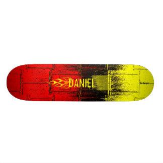 Flaming Name Custom Skate Board