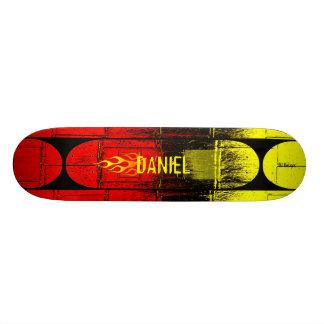 Flaming Name Skate Decks