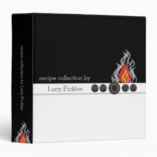 Flaming oven dials personal cookbook binder